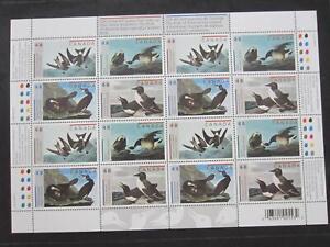 Canada mint never hinged sheet of 16,#1979-1982 Art Birds by John James Audubon