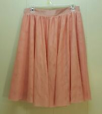 ModCloth LARGE Pink Tulle Skirt Full Aline Modest Swing Rockabilly Church Party