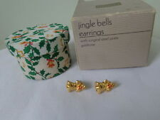 US AVON Vintage Jingle Bells Stud Earrings Jewelry 1988 Collection