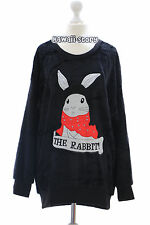 TS-10-2 schwarz Hase Rabbit Bunny Lolita Goth Pullover Sweatshirt Fleece Japan