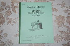 Complete Service Manual on CD in PDF Format, for Singer Class 604 Sewing Machine