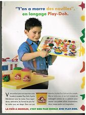 Publicité Advertising 1990 La pate à modeler Play-Doh