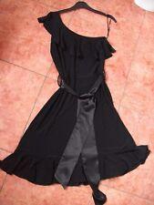 Ladies Dress size 8 Black Frilled Vintage 90s