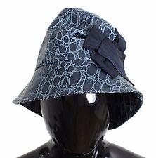 Nuova con Etichetta Dolce & Gabbana Blu pelle di Vitello Cappello a Cloche