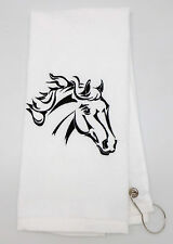 Personalized Embroidered Golf/Bowling Towel  Horse