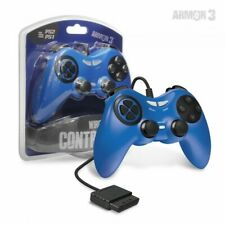 PS2 Sony PlayStation 2 Wired Controller Game Pad - Blue - Armor3