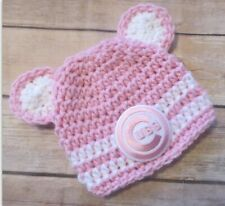 CHICAGO CUBS Girls PINK Hat Photo Prop CUBS Hat Shower Gift Size NEWBORN - 12 mo