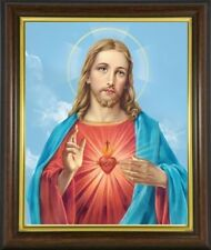 THE SACRED HEART OF JESUS FRAMED PICTURE 100's OF STATUES & CANDLES LISTED M10/2