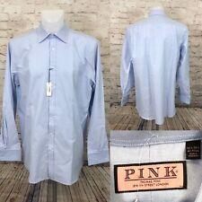 NEW Thomas Pink BL Oxford 100% Cotton French Cuff Blue Dress Shirt Sz 17.5/36.5