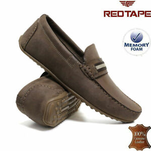 Mens Leather Slip On Loafers Casual Memory Foam Moccasin Boat Deck Driving Shoes