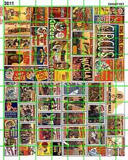 3011 DAVE'S DECALS NEW SM CIRCUS SET 4 FREAK SIDESHOW BUY 5 SETS FREE S/H