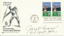 Janet Evans Olympic Swimming Signed 1979 First Day Cover/FDC 151278