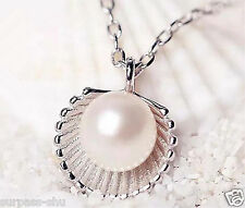 Fashion Women Girl All-match Shell Pearl Necklace Jewelry Fan Hot Style Casual