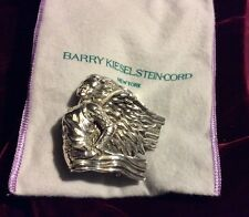 ANGEL GRAND Stunning Barry Kieselstein Cord Sterling Silver Belt Buckle