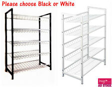 5 Layers Metal Shoe Rack Storage Shelf Shoes Organizer Choose Black White HX1054