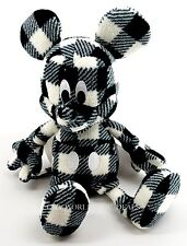 "D23 Expo 2015 Uni Qlo Disney Project Mickey 11"" Plush Toy Printed Fleece Black"