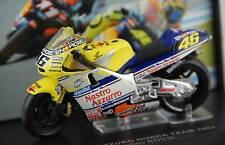 #46 VALENTINO ROSSI HONDA NSR500 1/24 2001 TEAM HONDA HRC NASTRO AZZURRO