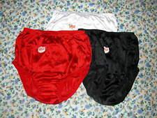 NEW RED NYLON BRIEF PANTIES NWT XL