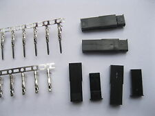 1500 Set JST 2 Pin Female & Male Black Color Housing & Pin Connector