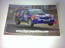 CP POSTCARD CARTOLINA SUBARU IMPREZA MEYER RALLY RALLYE WRC 2009