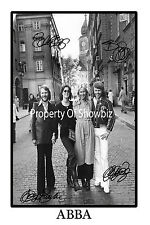 ABBA SIGNED AUTOGRAPH PHOTO POSTER - GREAT PIECE OF MEMORABILIA