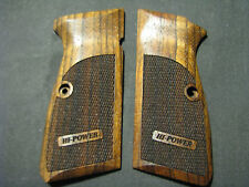 Browning High Hi Power Fine English Walnut Checkered Pistol Grips w/LOGO NEW!