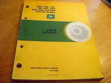 John Deere 65E 70E 72E 75E 80G 82G 85G 90G Parts Manual
