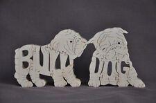 English Bulldog Puppies Bull Dog Puppy  Wood Amish Made Scroll Saw Toy Puzzle
