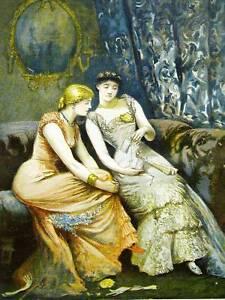 Arthur Hopkins AFTER THE DANCE 1882 VICTORIAN Antique Art Print Matted