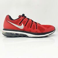 Nike Mens Air Max Dynasty 816747-600 Red Black Running Shoes Lace Up Size 7