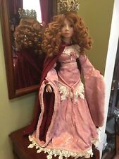 "Patricia Loveless Lady Ophelia 26"" Porcelain Doll Designers Guild Medieval queen"