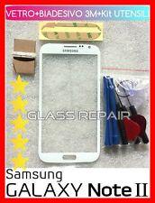 Vetro vetrino BIANCO FRONT GLASS WHITE SAMSUNG GALAXY Note 2 II GT-N7100 N7105