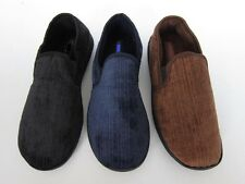 man house slippers comfortable  shoes black navy brown SIZE 7