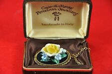Vintage Capo Di Monte Porcelain Flower Necklace Hand made Italy (boxed) c.1960's