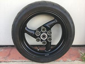 """Cerchio ruota post. 17""""x 4,5"""" Ducati Monster 696 con gomma 3700 Km #eBayheroes"""