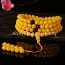 Baltic Amber stone butterscotch Yellow 108 Beads Bracelet Rounds 8mm