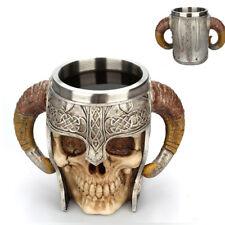 3D Skull Beer Mug Luxury Water Coffee Tea Cup Decor Viking Warrior Knight Gift