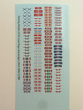 Starling Models Naval flags and ensigns for 1914-45 ships, 1/700