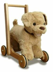Little Bird Told Me Dexter Dog - Kids Push & Ride Along Soft Toy/Walker Washable