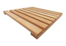 Pedana doccia in legno naturale di faggio cm 60x60 prodotta artigianalmente