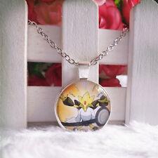 Mega Alakazam Pokemon Pendant Tibet silver Cabochon Glass Chain Necklace