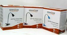 Newhouse Lighting 21 in. Black Blue Purple LED Clamp Desk Lamp Flex Light NIB