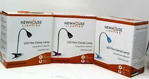 Newhouse Lighting 21 in. Black Blue LED Clamp Desk Lamp Flex Light NIB