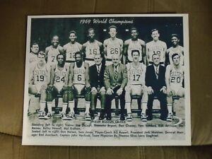 Boston Celtics  1968-1969 NBA Champs Team Photo