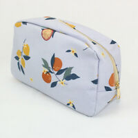 ORANGES CITRUS FRUIT PRINT PRINT LARGE WASH BAG TOILETRY BAG MAKE UP BAG POUCH