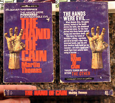 Book: The Hand Of Cain: Martin Thomas: vintage paperback Magnum 78-712 occult