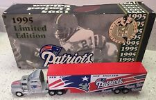 1995 NEW ENGLAND PATRIOTS L.E. WHITE ROSE NFL COLLECTIBLE DIECAST TRAILER TRUCK