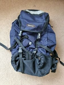 EUROHIKE  55L rucksack backpack, good condition all pockets, zips and clips work