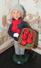 BYERS CHOICE CAROLER Boy with Candy Apples Signed Jeff Byers 2001 97/100  *