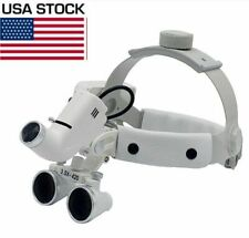 5w Led Dental Surgical Headband Head Light With 35x Loupes White Dy 106 Us Stock